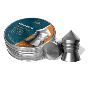 H and N Silver Pointed Airgun Pellets .177 cal.