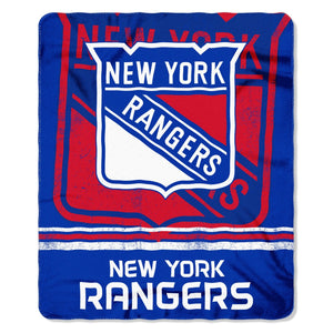 New York Rangers Fade Away Fleece Throw