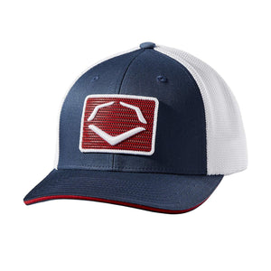EvoShield Rank Flexfit Hat-Navy/White
