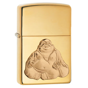 Zippo HP Brass Laughing Buddha Lighter