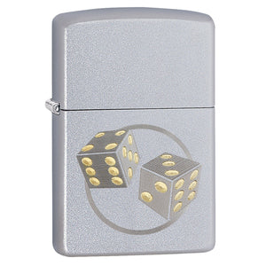 Zippo Satin Chrome Dice Lighter