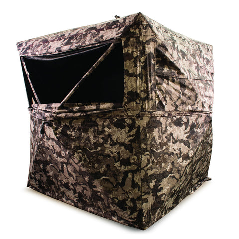 HME 3-Person Hub Ground Blind Cervidae Camo