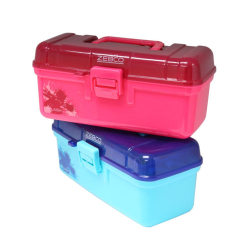 Zebco Splash Tackle Box ASST Blue and Pink With ASST Tackle