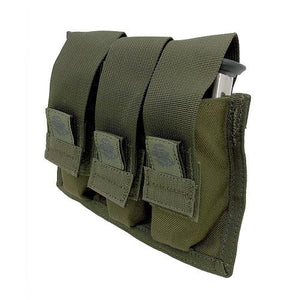 Tacprogear OD Green Triple Pistol Mag Pouch with Griptite