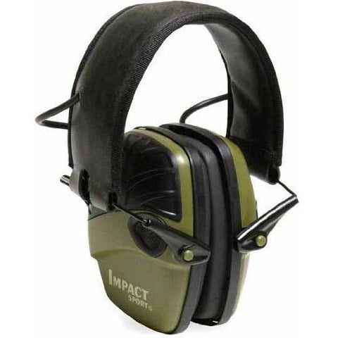 Howard Leight Impact Sport Electronic Ear Muffs-Hunter Green