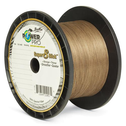 Power Pro Super 8 Slick Braid 80lb 1500 yards Timber Brown