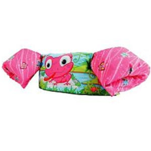 Stearns Puddle Jumper Deluxe Child Life Jacket - Pink Frog