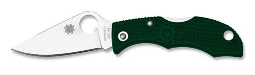 Spyderco Ladybug3 Folder 1.94in Plain Foliage Green FRN Hndl