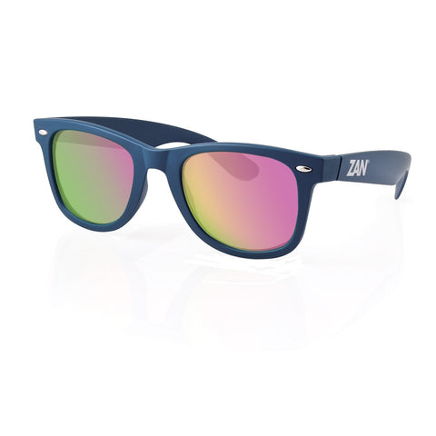ZANheadgear Winna Sunglass w-Steel Blue-Smoked Purple Mirror