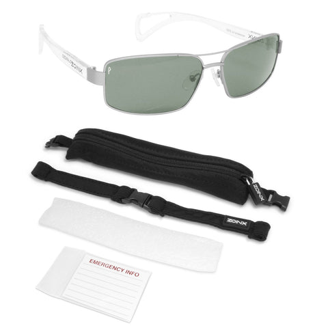 Image of Zoinx Men Wrap Sunglasses Silver Lens