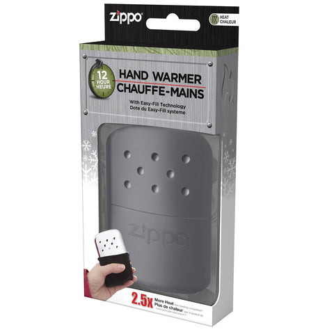 Zippo Refillable Hand Warmer 12 Hour Matte Black