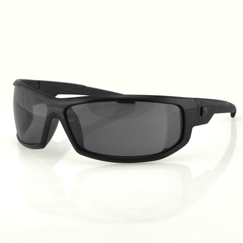 Bobster AXL Sunglasses-Black Frame-Anti-fog Smoked Lens