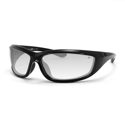 Bobster Charger Sunglass Z87-Black Frame-Anti-fog Clear Lens