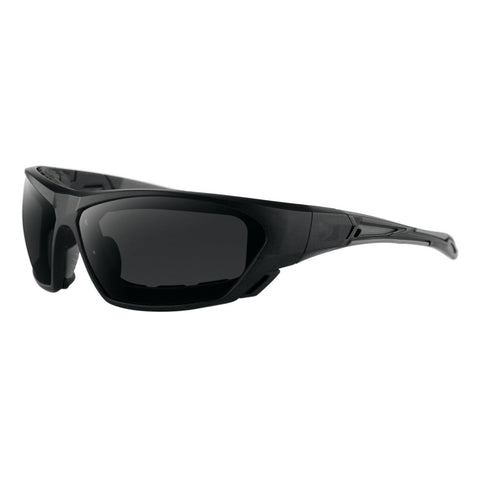 Bobster Crossover Sunglasses Matte Black Frame Smoked Lens