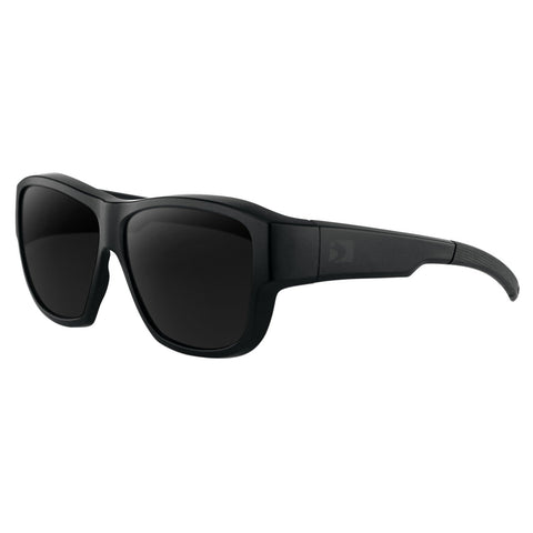 Bobster Eagle Sunglasses Matt Black Frame Smoked Lens