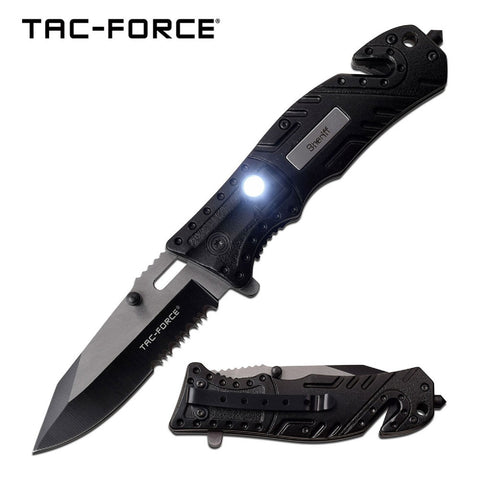 Tac-Force Assisted 3.25 in Blade Black Aluminum Handle