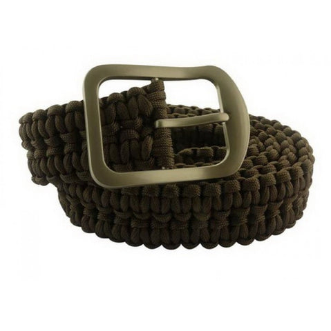 Impulse Product Paracord Belt with Steel Buckle Black