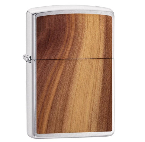 Zippo Brushed Chrome Woodchuck Cider Lighter