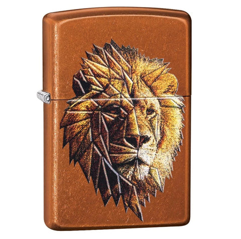 Zippo Toffee Polygonal Lion Design Lighter