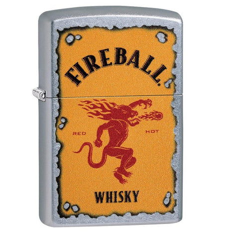 Zippo Street Chrome Fireball Design Lighter