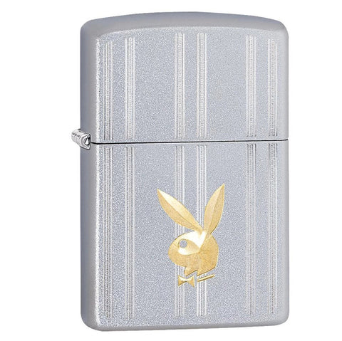 Zippo Satin Chrome Playboy Bunny Lighter