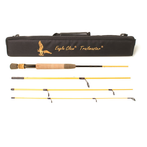 Eagle Claw Trailmaster Spin Fly Rod 4 Piece 7ft 6in Light