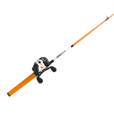 Zebco Roam 3Sz Orange 602M Spincast Combo 10#C