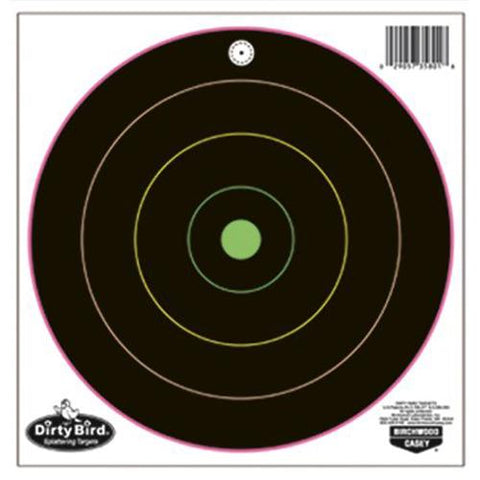 Birchwood Casey Dirty Bird MultiColor 20-8in Bulls-eye-20 pk