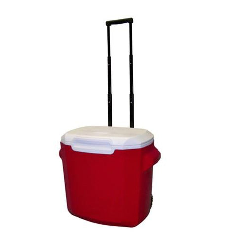 Coleman 28 Quart Wheeled Personal Cooler Red