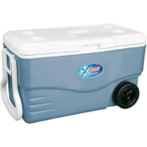 Coleman 100 Quart Xtreme Wheeled Blue Cooler