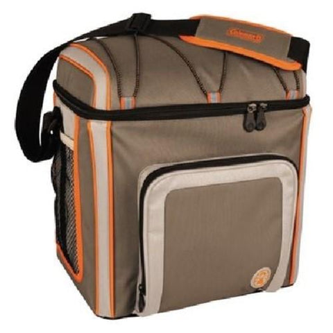 Coleman 16 Can Soft Cooler Outdoor With Liner Tan 3000002169
