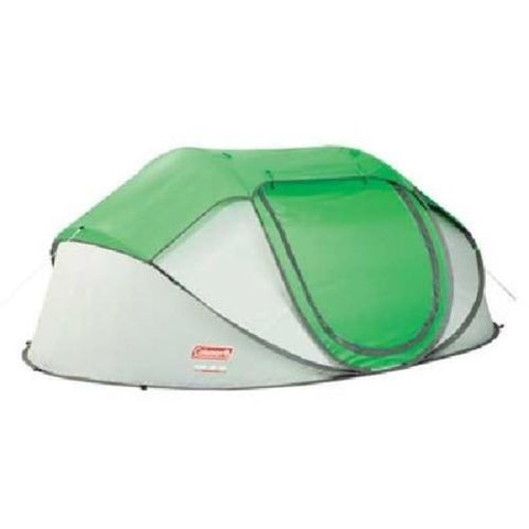 Coleman Popup 4 Tent 9.25x6.5 Foot Green Lght Gry
