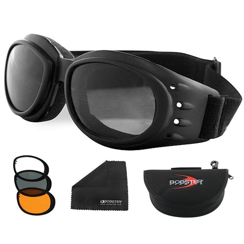 Bobster Cruiser 2 Interchange Goggle Black Frame 3 Lenses