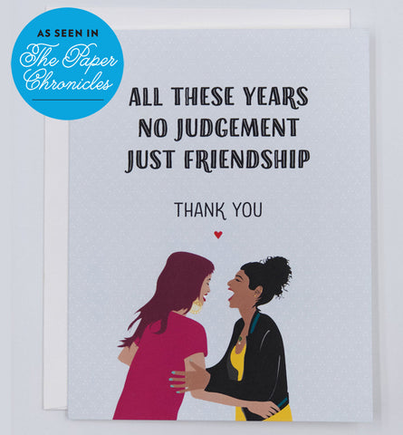 Friendship Thank you Card | Featured in The Paper Chronicles
