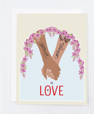 Love Always & Forever Greeting Card (Single)
