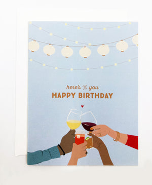 Happy Birthday Toast Greeting Cards (Pack)