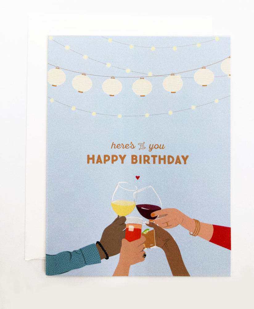 Happy Birthday Toast Greeting Card (Single)