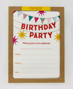 Kids Birthday Party Invitations (Pack)