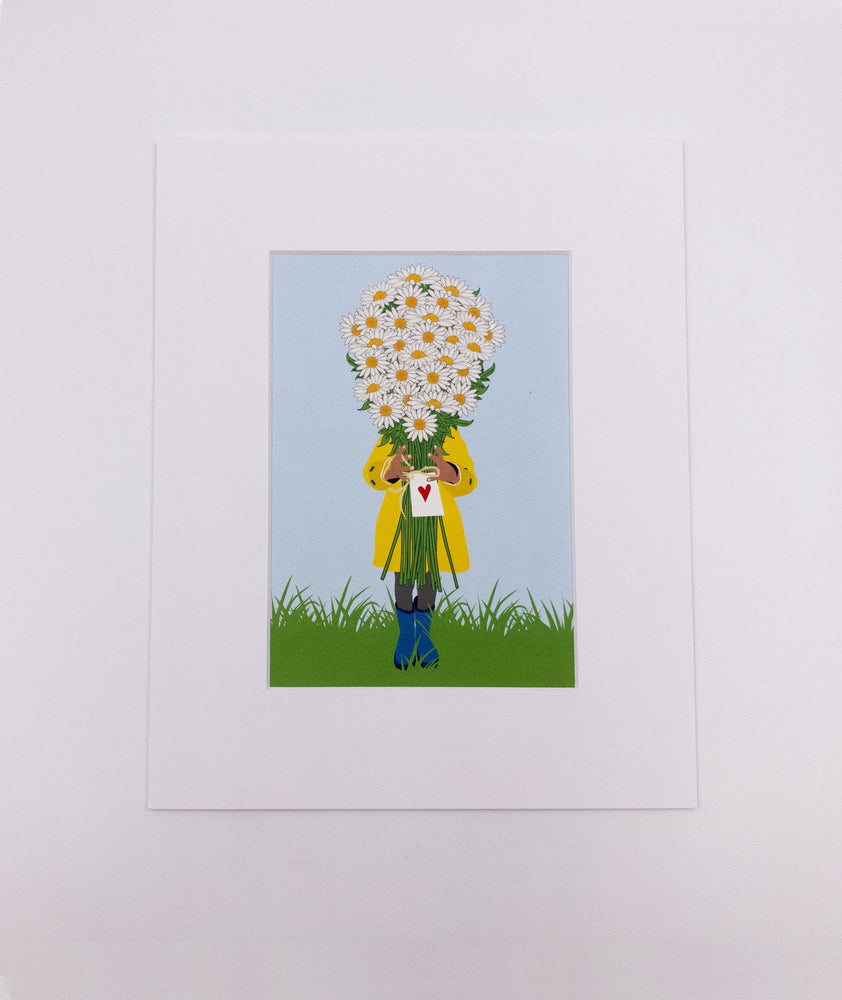 Daisy Bouquet Art Print (5x7)