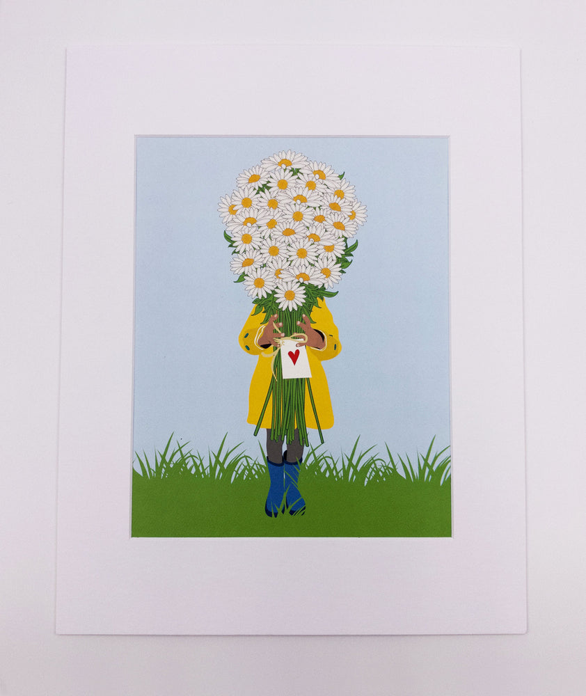 Daisy Bouquet Art Print (8x10)