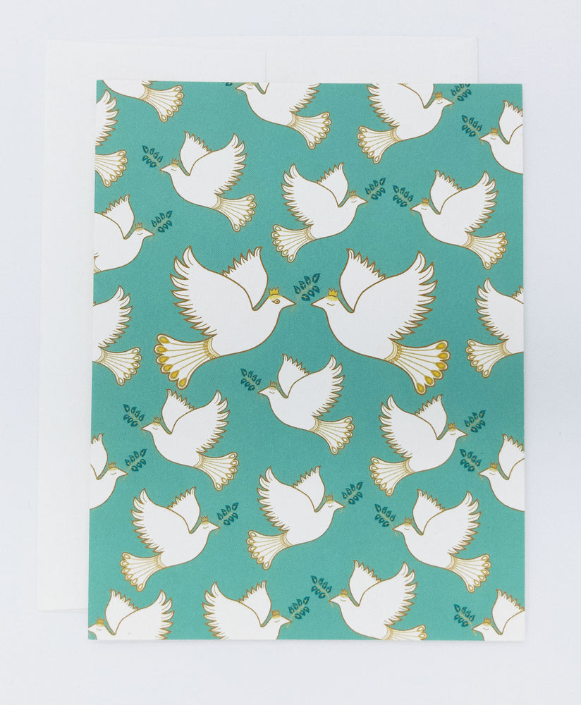 Doves greeting card. Peace doves recycled greeting card. Perfect for weddings, anniversary card or everyday greeting card.