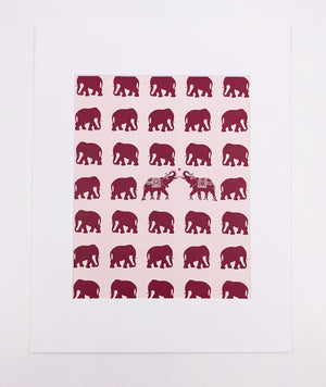 Elephants Art Print (8x10)
