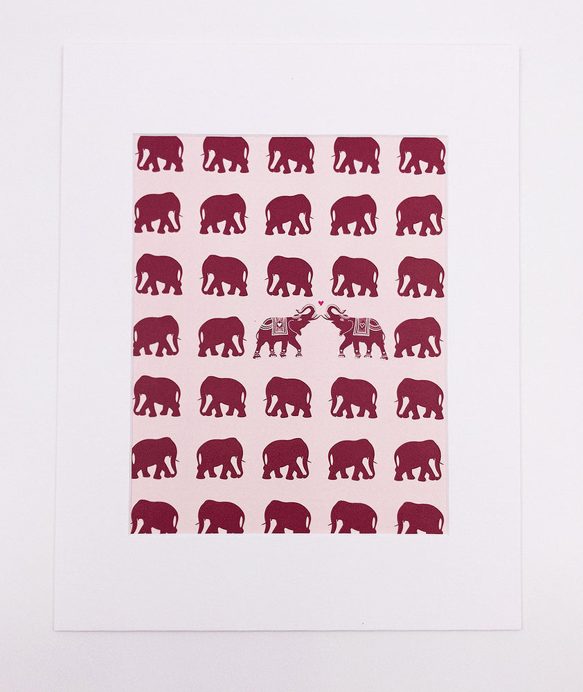 Elephants Art Print (5x7)