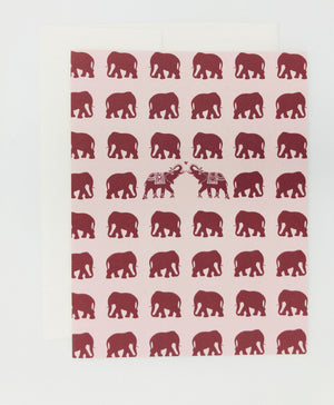 Elephants Greeting Card (Single)
