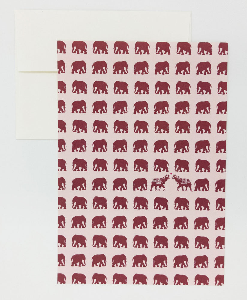 Elephants stationery writing set with envelopes and stamps. Wedding gifts, anniversary gifts, paper anniversary. Keepsake love letter writing kit