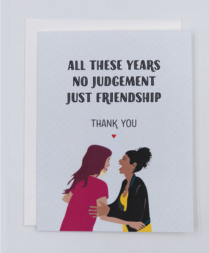 Friendship Thank you Greeting Card (Single)