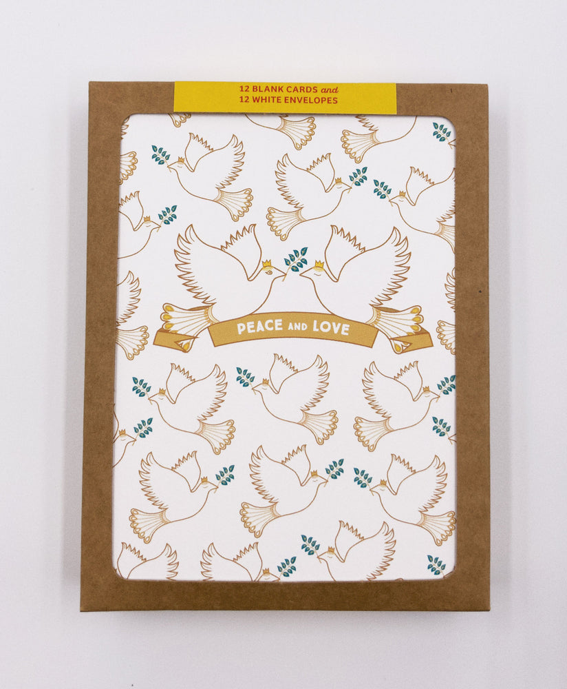 Holiday Peace Doves Greeting Cards (Pack)