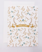 Holiday Peace Doves Greeting Card (Single)