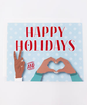 Holiday Peace and Love Greeting Card (Single)