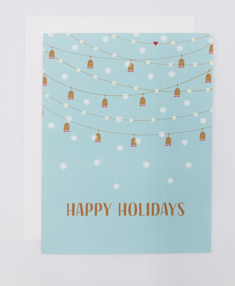 Holiday String Lights Greeting Card (Single)